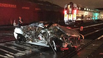 Driver OK After Amtrack Train Strikes Vehicle in Emeryville