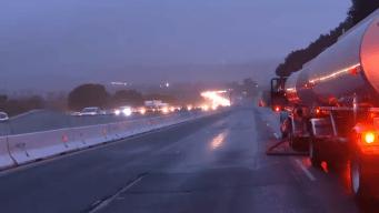 Crash, Fuel Spill Snarls NB I-680 Traffic Over Sunol Grade