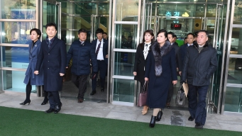 Head of Popular Girl Band Leads N. Korean Team to S. Korea