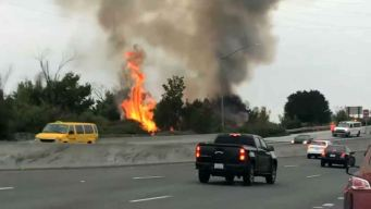 RAW: Brush Fire Breaks Out Near San Jose Airport