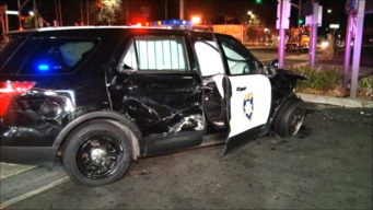 Mangled Wreck in Oakland Injures 2 Officers, Civilian: Police