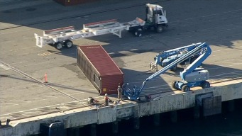Shipping Containers Knocked Off Port of Oakland, Into Bay