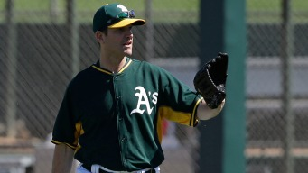 Harbaugh Becomes A's First Base Coach for Day