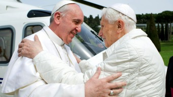 Pope Francis, Benedict Meet for Historic Lunch