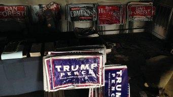 Clinton, Trump Condemn GOP Office Firebombing