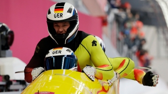 Germany Takes Gold in 4-Man Bobsled