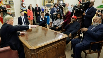 Kanye West Holds Bizarre Presser With Trump In Oval Office