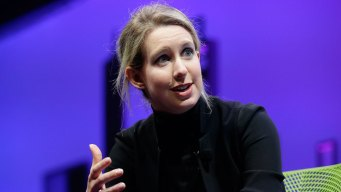 Elizabeth Holmes talks to NBC