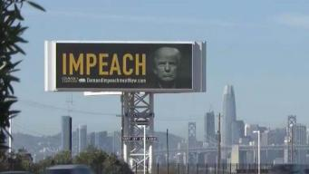 Bay Bridge Billboard Calls for President Trump's Impeachment
