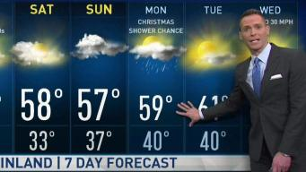 Jeff's Forecast: Cold 30s & Christmas Shower