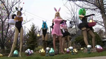 Scantily-Clad Easter Bunny Display on NJ Yard Stirs Controversy