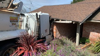 Big Rig Crashes Into Home in Oakland