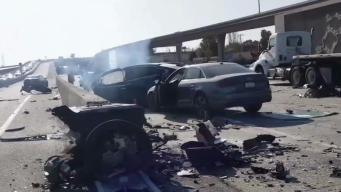 Driver Dies Following Fiery Tesla Model X Crash on U.S. Hwy. 101 in Mountain View