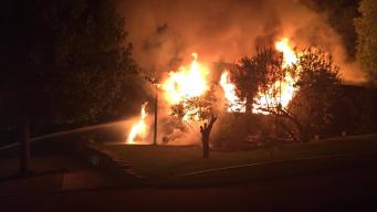 Fire Guts Empty Two-Story Redwood City Home