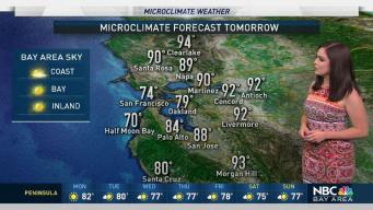 Forecast: Hot Inland Temperatures for Labor Day Weekend