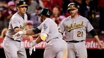A's Get Lift From 'Strong, Strong, Strong Human Being'