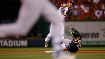 A's Held at Bay by Weaver, Fall to Cardinals