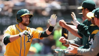 A's Return Favor, Flex Muscle on Nationals