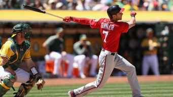 Late Rally by A's Falls Short, Nationals Take Series