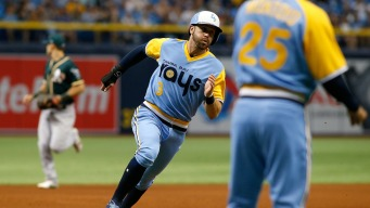 A's Tie Game in Ninth, Lose to Rays in Extras