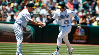 Healy Homers Twice, A's Win Third Straight Over Yanks