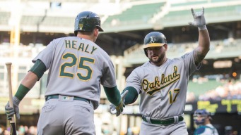 A's Push Across Run in the Ninth, Take Down Mariners