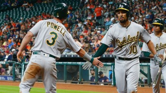 A's Beat Astros 3-2, Avoid Sweep