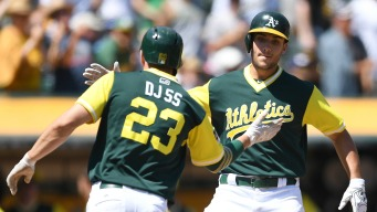 A's Bust it Open in Eighth, Sweep Rangers at Home