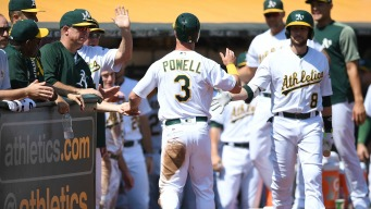 A's Walk by Astros in Game 1 of Doubleheader