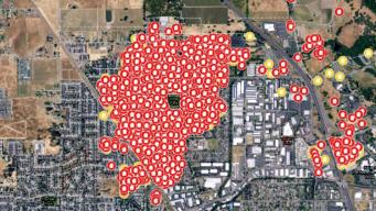 Interactive Map: Structures Damaged, Destroyed by Fires
