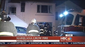Crews Battle Marijuana Grow Fire in San Francisco