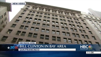 Bill Clinton Speaks at Julia Morgan Ballroom in San Francisco