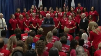 Bernie Sanders Talks Health Care in Emeryville