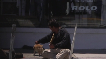Homeless Man and Dog Scrape for Survival in SF Streets