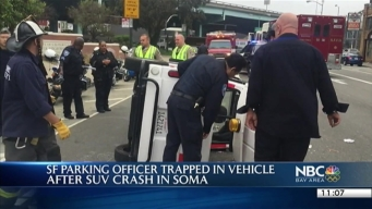 San Francisco Parking Control Officer Hurt in Collision in SoMa