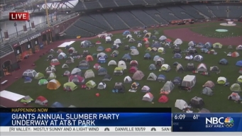 Giant Annual Slumber Party at AT&T Park