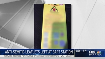 Anti-Semitic Leaflets Left at BART Trouble East Bay Jewish Community