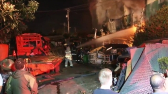 RAW VIDEO: Oakland Warehouse Fire Leaves at Least 9 Dead