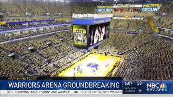 Groundbreaking Ceremony for Warriors' New San Francisco Chase Center Stadium