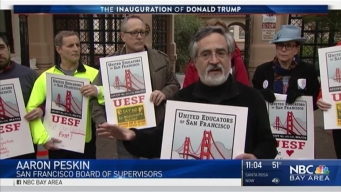 San Francisco Educators Rally For Public Schools Ahead of Trump's Inauguration