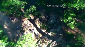 Motorcyclist Rescued From California Ravine