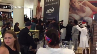 RAW: Police Struggle to Maintain Order During Fight at SF Mall