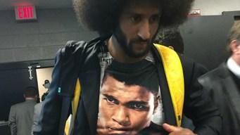 Kaepernick Explains Why He Wore Muhammad Ali T-Shirt
