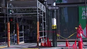 City Inspectors Say Millennium Scaffolding Can Stay Down