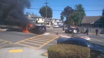 OPD Officer Hurt in Fiery Crash With Fellow Officer: Report