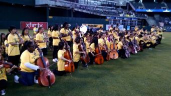School District Band Protests During Anthem at A's Game