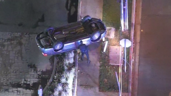 Police Pursuit in Santa Ana Ends With Flipped Vehicle