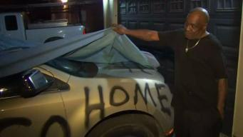 Alleged Victim of Racist Graffiti Stands by Story