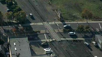 Motorist OK After Slamming Into Train in San Leandro