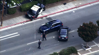 Redwood City Cop Loses Control, Hits Pedestrian, 2 Vehicles
